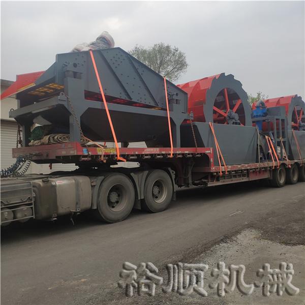 两台轮式洗砂机和细砂回收机发货浙江